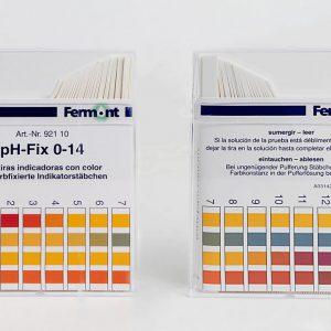 Tiras de papel para pH, 92110, Fermont